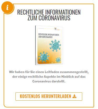 Rechtliche Informationen zum Coronavirus